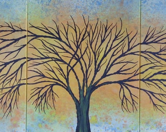 ORIGINAL Paintings Contemporary Fine Art  Modern Acrylics Abstract Floral / TREE ART