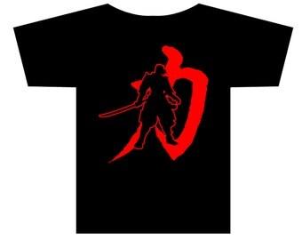 Samurai Strength Kanji Character T-shirt