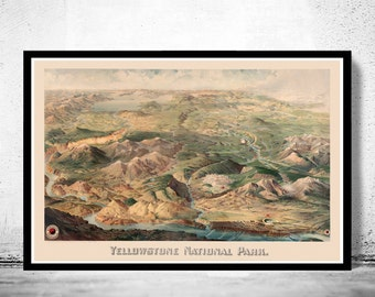 Yellowstone National Park Poster Milwaukee 1904
