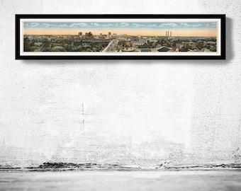 Vintage Panoramic View of Tampa Florida 1915