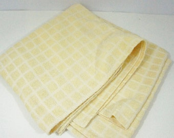 Square terrycloth tablecloth picnic blanket table yellow waffle weave covering spring event shower party