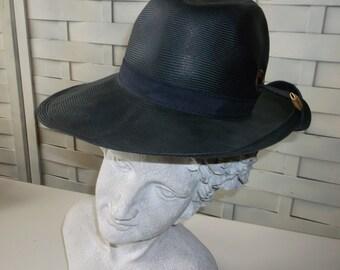 Adolpho II Gray Fedora, Charcoal Grey  - Vintage Hat