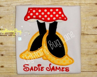 girls minnie mouse shirt personalized minnie mouse legs and skirt shirt for baby birthday outfit minnie mouse shirt red yellow black
