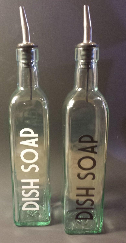 Dishwashing Liquid Dispenser ~ Liquid dish soap dispenser w vinyl decal