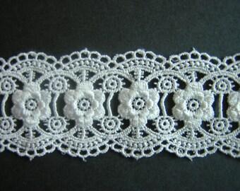 "Beautiful 2"" wide white venise lace trim"