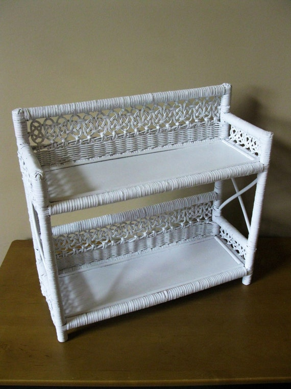 white wicker shelves bathroom vintage wicker shelf white 2 tier ready to hang laundry 21639