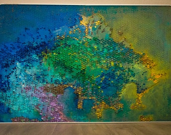 Multi Colored Abstract Painting - Handmade Wall Decor