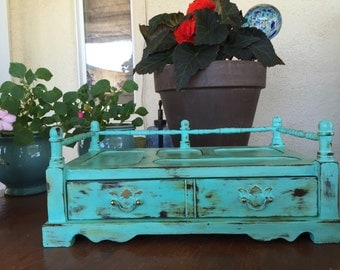 Gorgeous Turquoise catch all/mens valet/ jewelry box!