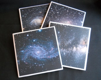 Galaxy Coasters ~ Space Coasters ~ Ceramic Tile Coasters ~ Drink Coasters ~ Nebulas ~ Outer Space ~ Home Decor ~ Cosmic Universe