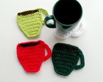 drink coasters - coffee lovers gift - coffee mug coasters -  - gift for her - housewarming gift - Christmas gift - coaster set - home decor