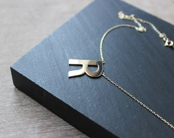14k Gold İnitial Necklace, Dainty Gold Necklace, Personalized gold necklace