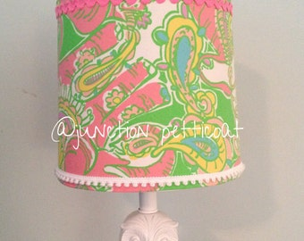 Lilly Pulitzer Lampshade in Chin Chin Sparkle Lamp Shade ONLY