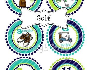 Golf Monthly Stickers Baby Monthly Stickers