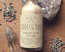 goddess dust ~ natural, organic body shimmer powder ~ plant makeup, natural bronzer