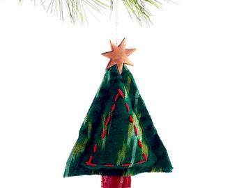 Hand Stitched Ornament- Green Tsalagi Cherokee Made