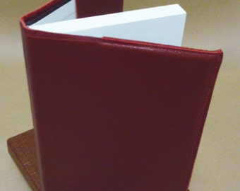 Red Leather Removable Journal Cover