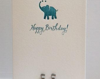 Happy Elephant Birthday Card