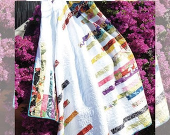Beyond the Reef Ginger Stalks Jelly Roll Friendly Quilt Modern Pattern