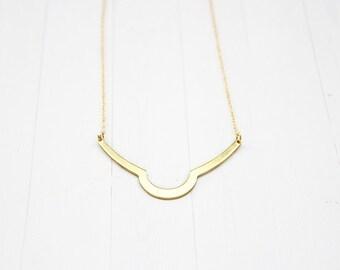 Minimal Geometric Pendant Necklace