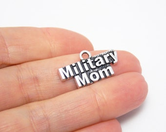 Military mom Charm/Jewelry Army mom charm/jewelry Military pendant Support our troops Military mom gift Military jewelry