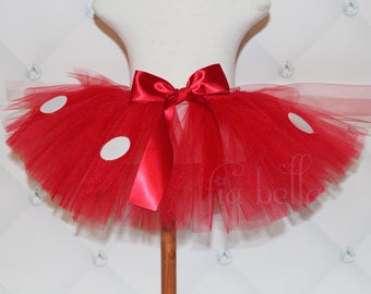 TUTU SKIRT...Red & White Polka Dot Tutu Skirt..Newborn Tutu..Baby Tutu..Toddler Tutu...Cakesmash Tutu...Birthday Tutu..Summer Dress