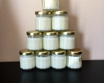 Candle Favors 10  baby powder soy candle wedding or baby shower favors (1.5 oz) candle favors