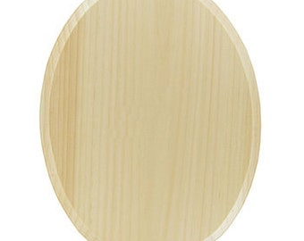 "1 Natural real Wood 9"" x 12"" inch Oval Plaque Unfinished rOund & beveled 9x12 raw rounded wooden DEMIS 709154"