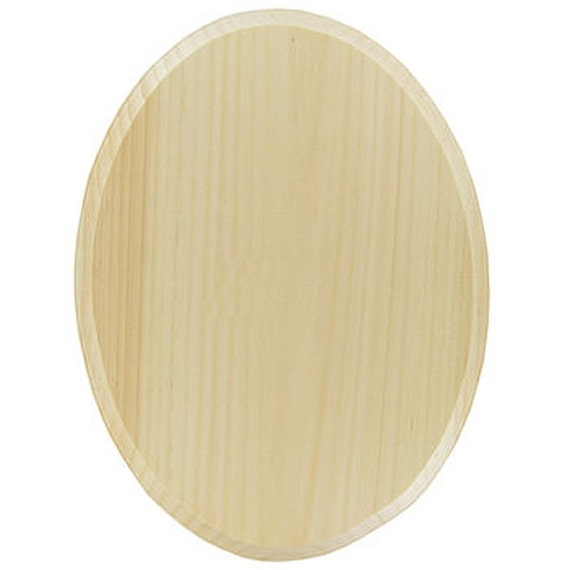 1 Natural Real Wood 9 Quot X 12 Quot Inch Oval Plaque Unfinished