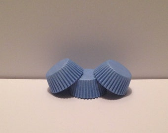 Mini Blue Grease Resistant cupcake liners/baking cups- 50 count