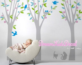 Wall Decals Cats Tree wall decals nursery wall decals children baby room wall decals wall sticker from wall decor-DK111