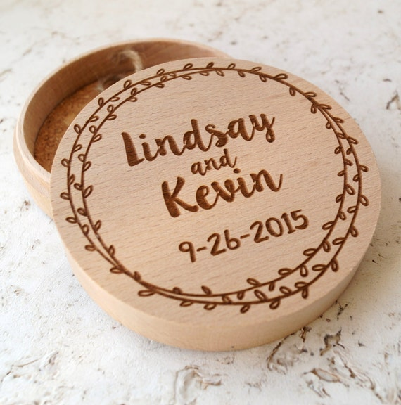 Wedding ring box, custom ring box, rustic wedding ring bearer, ring bearer box, wooden ring box, personalized engraved ring box