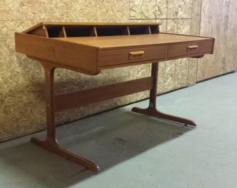 Danish Modern Teak Pop-Up Desk