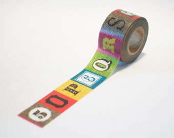 masking tape 15mm x 7m alphabet and numbers