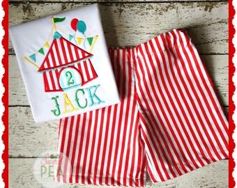 Personalized Circus Tent Shirt - Circus Shirt-- Girls Circus Birthday-- Circus Birthday Shirt-- Carnival Birthday-- Carnival shirt--Carnival