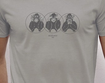 3 monkeys organic t shirt ecoLoco