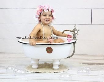 clawfoot baby bath tub. Baby Bath BUBBLES Prop set Photography prop newborn toddlers baby girl  vintage for bath tub Etsy
