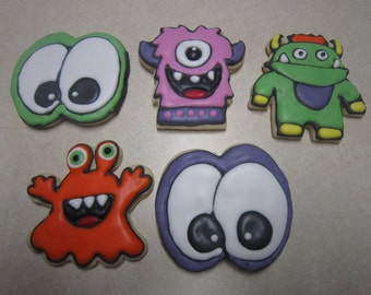 12 Halloween Monster Mash Cookies