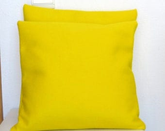 Yellow Cushion Cover, Yellow Felt Pillow Case, Felt Pillow Cover Yellow, Yellow Felt Pillow Case Felt