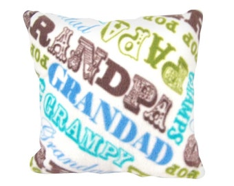 Grandpa Pillow,  Father's Day, Cozy Soft Specialty, Novelty, Gift, Baby,  Personal Message
