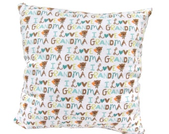 Grandma Pillow, Cozy Soft Specialty, Novelty, Gift, Baby Personal Message