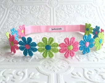 The Turquoise, Pink, and Lime Dasiy Dreams Headband