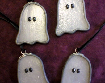 Stained glass ghost decoration - LAST ONE!