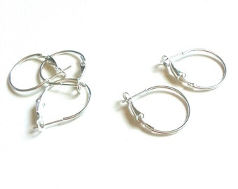 Silver-plated rings earrings 925 20 mm 1 pair