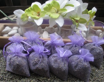 SALE - 50 very fragrant Lavender Sachet Wedding, Baby Shower, Party favor, Dried Lavender Buds, Lavender Filled Organza Bags, Moth