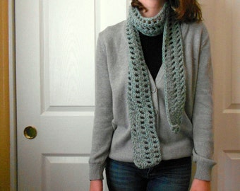 Sea Green Hipster Long &  Warm Wool Scarf