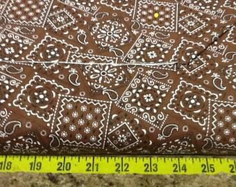Brown Blazin Bandana Fabric by the yard