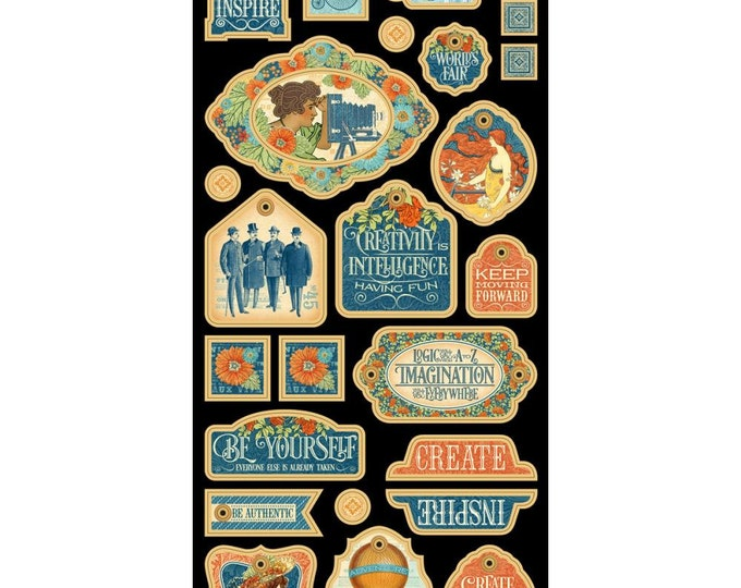 WORLD'S FAIR by Graphic 45 - World's Fair 6x12 Decorative Chipboard Sheet