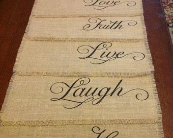 Burlap Fringed Placemats - Set of 6