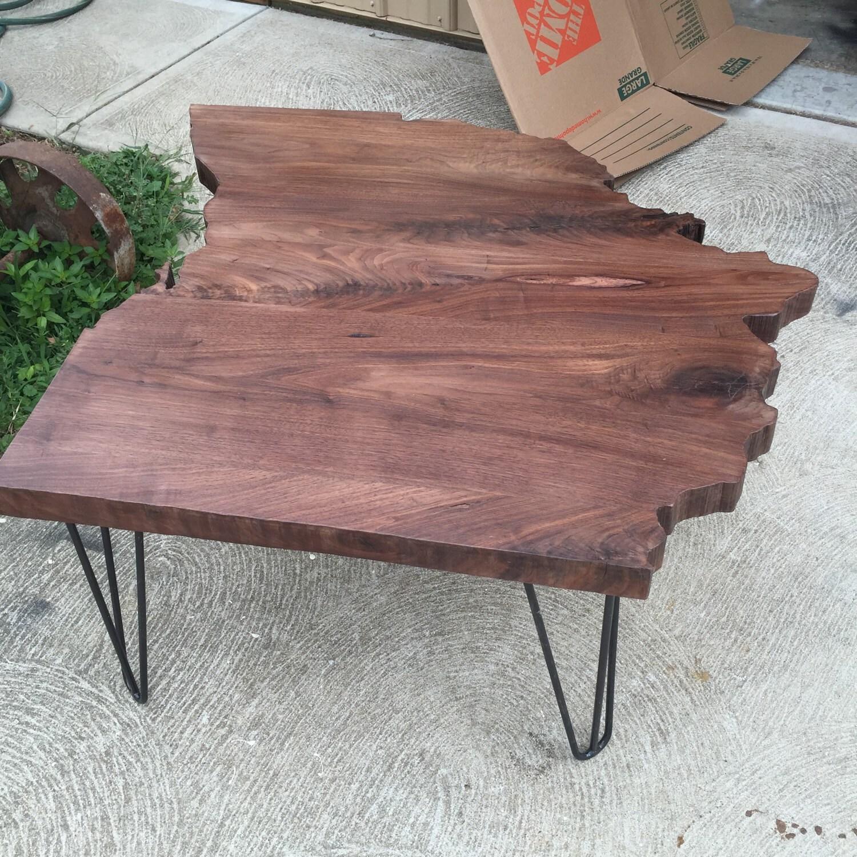 Filca Ohio Is Home Walnut Coffee Table Rustic Live Edge Unique Buckeyes