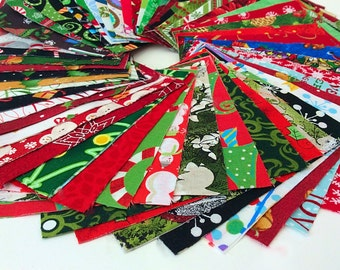 "Christmas Fabric Charm Pack Lot - 100% Cotton Quilting Fabric 100  4"" SQUARES"